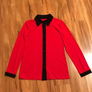 Eva Varro Collared Long Sleeve Shirt Size S